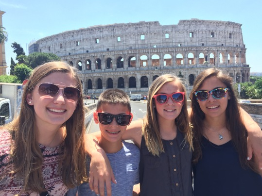 Cousins at the Coloseum